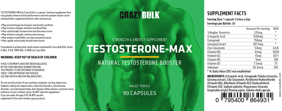 Crazy Bulk Testo Max
